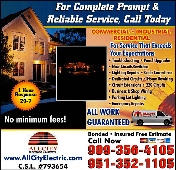 ALL CITY ELCTRICAL AND LIGHTING ELECTRICIANS
